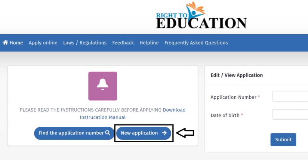 RTE Gujarat Application Process
